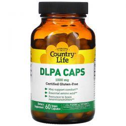 Country Life, DLPA Caps, 1,000 mg, 60 Vegan Capsules Pozostałe