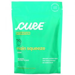 Cure Hydration, Balancing Electrolyte Mix, Main Squeeze Lemon, 14 Individual Packs, 0.29 oz (8.3 g) Each Pozostałe