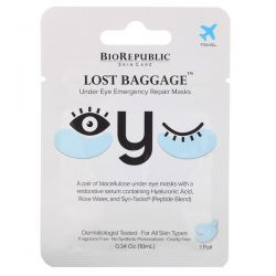 BioRepublic Skincare, Lost Baggage, Under Eye Emergency Repair Masks, 1 Pair, 0.34 oz (10 ml) Pozostałe