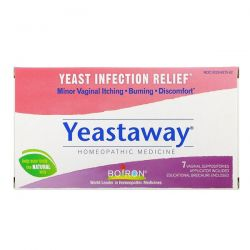 Boiron, Yeastaway, Yeast Infection Relief, 7 Vaginal Suppositories Pozostałe