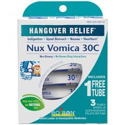 Boiron, Single Remedies, Nux Vomica, 30C, 3 Tubes, Approx 80 Pellets Each Zdrowie i Uroda