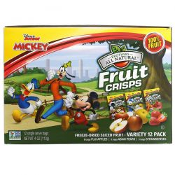 Brothers-All-Natural, Disney Junior, Fruit Crisp, Freeze Dried Sliced Fruit, Variety Pack, 12 Pack, 4 oz (113 g) Zdrowie i Uroda