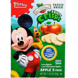 Brothers-All-Natural, Fruit Crisps, Disney Junior, Apples and Cinnamon Apples, 5 Pack, 1.23 oz (35 g) Zdrowie i Uroda