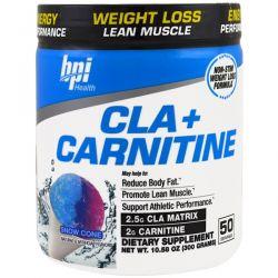 BPI Sports, CLA + Carnitine, Snow Cone , 10.58 oz (300 g) Zdrowie i Uroda