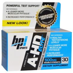 BPI Sports, A-HD Elite, 500 mg, 30 Capsules Zdrowie i Uroda