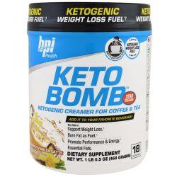 BPI Sports, Keto Bomb, Ketogenic Creamer For Coffee & Tea, French Vanilla Latte, 1 lbs 0.5 oz (468 g) Zdrowie i Uroda
