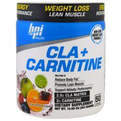 BPI Sports, CLA + Carnitine, Fruit Punch, 10.58 oz (300 g) Zdrowie i Uroda