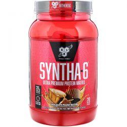 BSN, Syntha-6, Ultra Premium Protein Matrix, Chocolate Peanut Butter, 2.91 lbs (1.32 kg) Zdrowie i Uroda