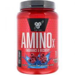 BSN, AminoX, Endurance & Recovery, Blue Raz, 2.24 lb (1.01 kg) Zdrowie i Uroda