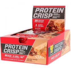 BSN, Protein Crisp, Packed Protein Bar, Salted Toffee Pretzel, 12 Bars, 2.01 oz (57 g) Zdrowie i Uroda