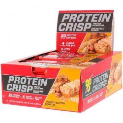 BSN, Protein Crisp, Peanut Butter Crunch Flavor, 12 Bars, 1.97 oz (56 g) Each Zdrowie i Uroda