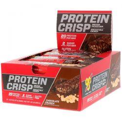 BSN, Protein Crisp, Chocolate Crunch Flavor, 12 Bars, 2.01 oz (57 g) Each Zdrowie i Uroda