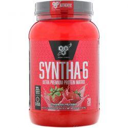 BSN, Syntha-6, Ultra Premium Protein Matrix, Strawberry Milkshake, 2.91 lbs (1.32 kg) Zdrowie i Uroda