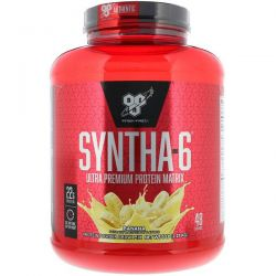 BSN, Syntha-6, Ultra Premium Protein Matrix, Banana, 5 lb (2.27 kg) Zdrowie i Uroda