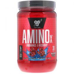 BSN, AminoX, Endurance & Recovery, Blue Raz, 15.3 oz (435 g) Zdrowie i Uroda