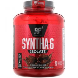 BSN, Syntha-6 Isolate, Protein Powder Drink Mix, Chocolate Milkshake, 4.02 lb (1.82 kg) Zdrowie i Uroda