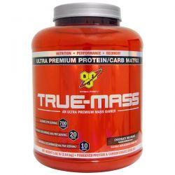 BSN, True-Mass, Ultra Premium Protein/Carb Matrix, Chocolate Milkshake, 5.82 lbs (2.64 kg) Zdrowie i Uroda