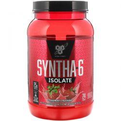 BSN, Syntha-6 Isolate, Protein Powder Drink Mix, Strawberry Milkshake, 2.01 lbs (912 g) Zdrowie i Uroda