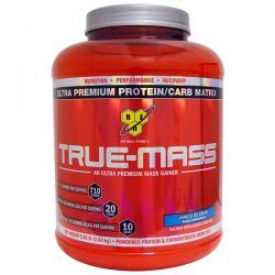 BSN, True Mass, Ultra Premium Protein/Carb Matrix, Vanilla Ice Cream, 5.82 lbs (2.64 kg) Zdrowie i Uroda