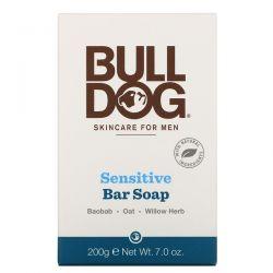 Bulldog Skincare For Men, Bar Soap, Sensitive, 7.0 oz (200 g) Zdrowie i Uroda