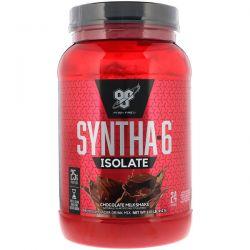 BSN, Syntha-6 Isolate, Protein Powder Drink Mix, Chocolate Milkshake, 2.01 lb (912 g) Zdrowie i Uroda