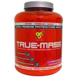 BSN, True-Mass, Ultra Premium Protein/Carb Matrix, Strawberry Milk Shake, 5.82 lbs (2.64 kg) Zdrowie i Uroda