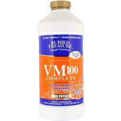 Buried Treasure, Liquid Nutrients, VM100 Complete, Orange Zest, 32 fl oz (946 ml) Zdrowie i Uroda