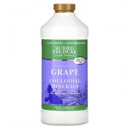 Buried Treasure, Liquid Nutrients, Colloidal Minerals, Grape, 32 fl oz (946 ml) Zdrowie i Uroda
