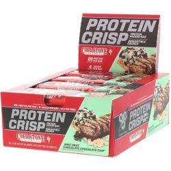 BSN, Protein Crisp, Mint Mint Chocolate Chocolate Chip, 12 Bars, 2.01 oz (57 g) Each Zdrowie i Uroda