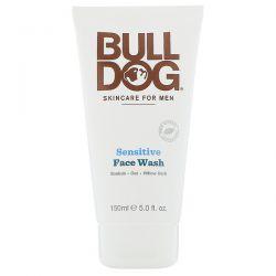 Bulldog Skincare For Men, Face Wash, Sensitive, 5 fl oz (150 ml) Zdrowie i Uroda