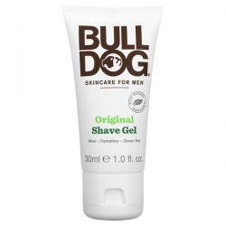 Bulldog Skincare For Men, Original Shave Gel, 1.0 fl oz (30 ml) Zdrowie i Uroda