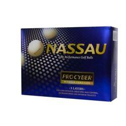 Piłki golfowe NASSAU PRO CYBER (białe) - NASSAU GOLF  Pozostałe