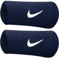 Frotka na ręke szeroka Nike Swoosh Doublewide granatowa 2szt NN05416 - Nike