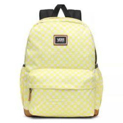 Vans, Plecak szkolny, Realm Plus Lemon Tonic Checkerboard VN0A34GLVD7, żółty, 27L - Vans  Pozostałe