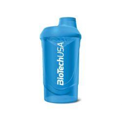 BioTech, Shaker, Wave, 600 ml, niebieski - BioTech