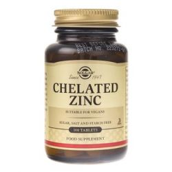 Solgar, Cynk chelat aminokwasowy, 100 tabletek - Solgar  Pozostałe