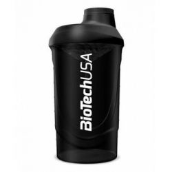 BioTech, Shaker, Wave, czarny, 600 ml - BioTech