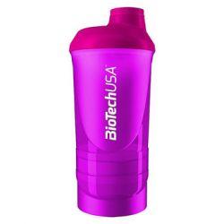 BioTech USA, Shaker Wave+, 600 ml, różowy - BioTech