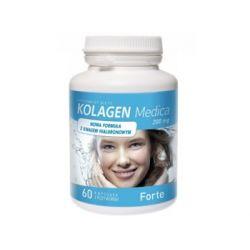 Medicaline, Kolagen 200 mg Forte, 60 kapsułek - MedicaLine  Siłownia i fitness