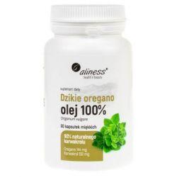 Medica Herbs, Aliness Dzikie Oregano olej 100%, 90 kapsułek - Aliness  Siłownia i fitness