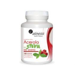 Aliness, Acerola ze stevią do ssania, 120 tabletek - Aliness  Siłownia i fitness