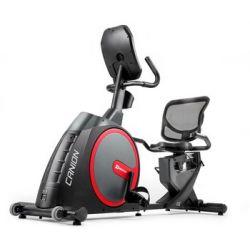 Hop-Sport, Rower elektryczno-magnetyczny poziomy, HS-300L Canion z pasem telemetrycznym + mata, czarny - Hop-Sport  Pozostałe