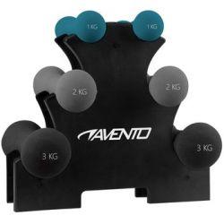 Zestaw hantelek do ćwiczeń + stojak Avento - Avento