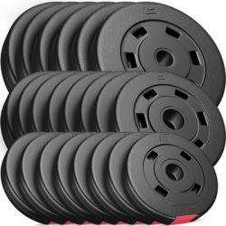 Hop-Sport, Zestaw obciążeń kompozytowych 60kg (6x5, 8x2.5, 8x1.25) - Hop-Sport  Pozostałe