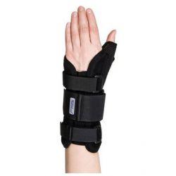 MEYRA MEDICAL MANU MEDICAL PLUS Orteza ręki stabilizująca z ujęciem kciuka czarna lewa rozmiar 2 - MEYRA MEDICAL