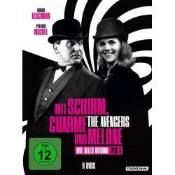 Mit Schirm, Charme und Melone - Wie alles begann Edition 1 [9 DVDs] - Patrick MacNee, Diana Rigg Filmy