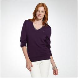 NOWY SWETER TOMMY HILFIGER FIOLET ROZ. S Z USA