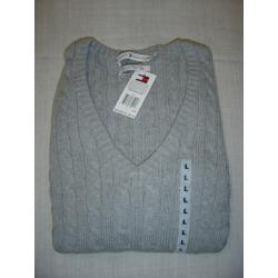 NOWY SWETER TOMMY HILFIGER SZARY ROZ. XL CABLE!