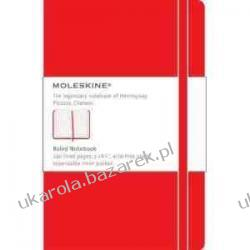 Moleskine Large Ruled Notebook Red notatnik Kalendarze ścienne