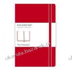 Moleskine Large Plain Notebook Red notatnik Kalendarze ścienne